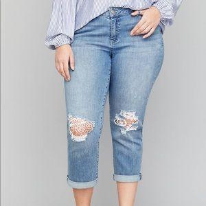 Lane Bryant Girlfriend Crop Lace Jean NWT Size 26